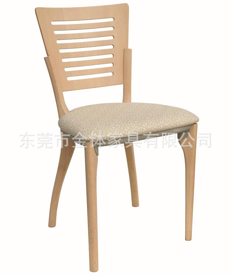 欧式时尚餐厅酒店休闲实木餐椅