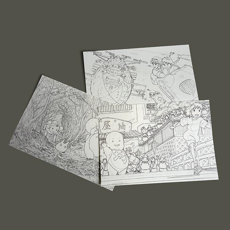 合肥希友 宫崎骏动漫手绘线稿多多洛千与千寻天空之城 阿里巴巴