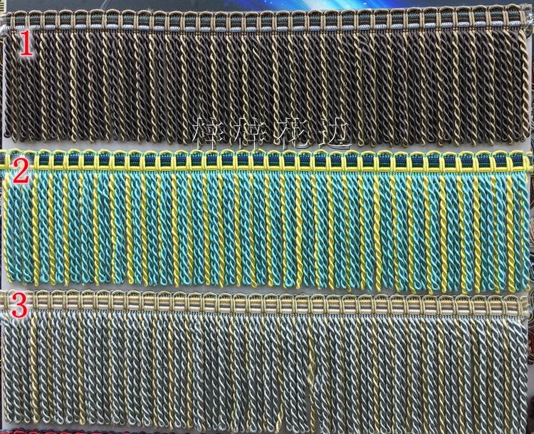 现货窗帘配件花边/辅料装饰/绳排/人造丝扭排花边特价批发