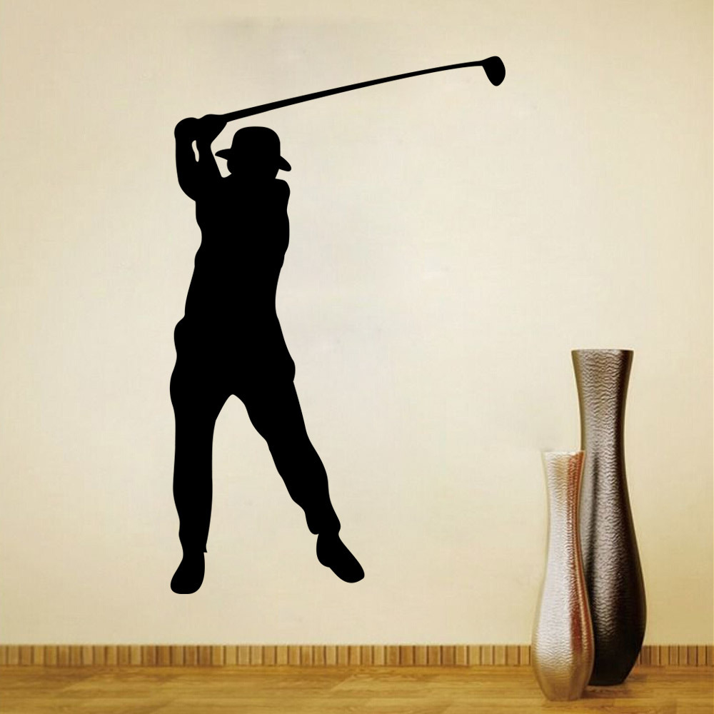 golf wall decal sticker for kids boys girls room and bedroom sports