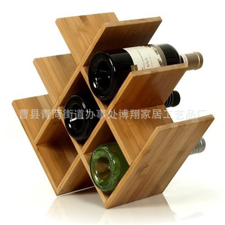 厂家定做木制创意置地式红酒展示架欧式简易桌面摆台展示葡萄酒架