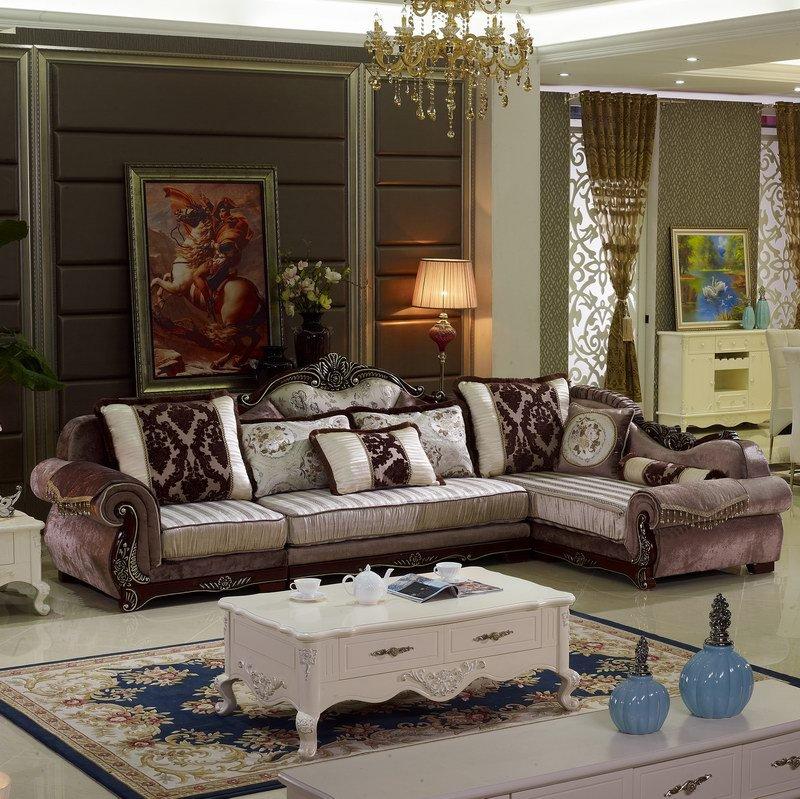 新款欧式布艺沙发豪华休闲布艺沙发 现代客厅卧室组合沙发