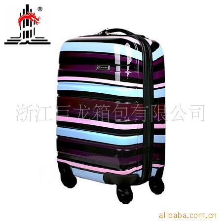 厂家 19寸七彩横条纹PC+ABS拉杆箱包 行李箱包